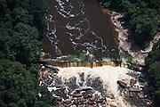 Waterfalls<br /> Kurupung River<br /> Pakaraima Mountains<br /> GUYANA<br /> South America