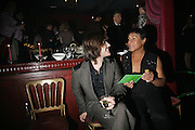 Gozra Lozano and Al Pillay, Book launch for Julian Clary's ' Murder Most Fab ',Simon Drake's House of Magic 9 Chapter Road, Kennington SE17. 14 August 2007.  -DO NOT ARCHIVE-© Copyright Photograph by Dafydd Jones. 248 Clapham Rd. London SW9 0PZ. Tel 0207 820 0771. www.dafjones.com.