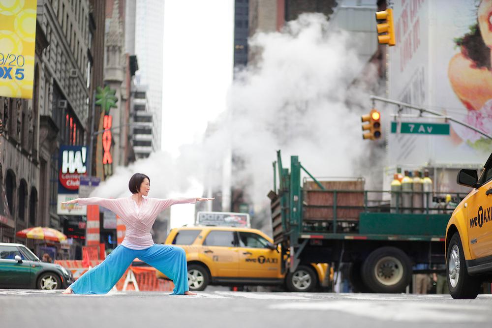 Heeki Park at Times Square, New York