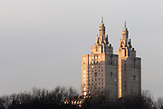 Central Park. New York, New York. United States. February 7th 2005..View on Central Park West Avenue's buildings from Central park..
