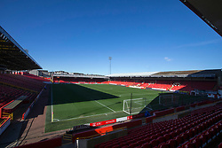 A general view of Pittodrie Stadium, Aberdeen.