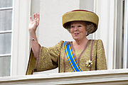 """Prinsjesdag 2007 in The Hague. <br /> <br /> On the Photo: Queen Beatrix at the """"balcony Scene"""""""