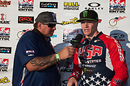 #11 (FIELDS Connor) USA wins the overall 2013 UCI BMX Supercross World Cup Series