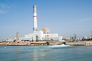 Israel, Tel Aviv, The Reading Power Station is located in north-western part of the city at the mouth of the Yarkon River, and was built in 1938 during the British Mandate of Palestine. since 2007 operating on natural gas. March 2008