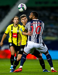 Lloyd Kerry of Harrogate Town challenges Matt Phillips of West Bromwich Albion - Mandatory by-line: Robbie Stephenson/JMP - 16/09/2020 - FOOTBALL - The Hawthorns - West Bromwich, England - West Bromwich Albion v Harrogate Town - Carabao Cup