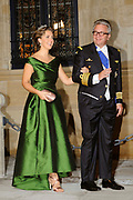 Gala dinner on the occasion of the civil wedding of Grand Duke Guillaume and Princess Stephanie at the Grand-Ducal palace in Luxembourg <br /> <br /> On the photo: Prince Laurent and Princess Claire of Belgium