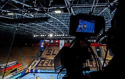 TV camera during handball match between RK Celje Pivovarna Lasko (SLO) and Paris Saint-Germain Handball (FRA) in Round of 16 of EHF Champions League 2020/21, on April 1, 2021 in Arena Zlatorog, Celje, Slovenia. Photo by Vid Ponikvar / Sportida