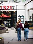 Shoppers Walking to Lot 579 at Pacific City Huntington Beach
