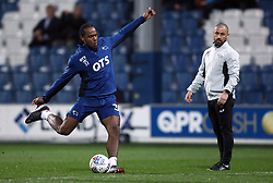 Derby County's Cameron Jerome warms up before the Sky Bet Championship match at Loftus Road, London.