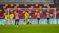 Football - 2020 / 2021 Sky Bet (EFL) Championship - Brentford vs. Wycombe Wanderers  - Brentford Community Stadium<br /> <br /> Ivan Toney (Brentford  FC) side foots the penalty home to increas3 his teams lead <br /> <br /> COLORSPORT/DANIEL BEARHAM