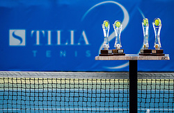 Trophies at Final of Doubles during ATP Challenger Tilia Slovenia Open 2016, on August 12, 2016 in Sports centre, Portoroz/Portorose, Slovenia. Photo by Vid Ponikvar / Sportida
