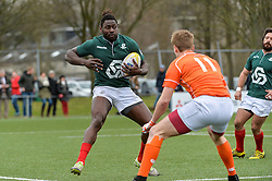 March 4, 2017 - Amsterdam, Netherlands - Aderito Esteves of Portugal during the SRugby Europe Trophy match between the Netherlands and Portugal at the National Rugby Centre Amsterdam on March 04, 2017 in Amsterdam, Netherlands. (Credit Image: © Andy Astfalck/NurPhoto via ZUMA Press)