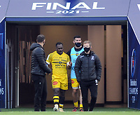 Rugby Union - 2020 / 2021 European Rugby Heineken Champions Cup - Final - Toulouse vs La Rochelle - Twickenham<br /> <br /> Levani Botia of La Rochelle awaits his fate and is sent off after the review by Referee,Luke Pearce<br /> <br /> CreditCOLORSPORT/ANDREW COWIE