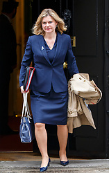 © Licensed to London News Pictures. 14/03/2017. London, UK. Education Secretary JUSTINE GREENING leaves Downing Street after a cabinet meeting on Tuesday, 14 March 2017. Photo credit: Tolga Akmen/LNP