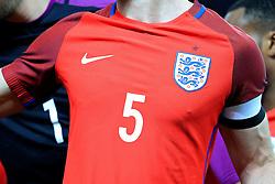 Englands Gary Cahill wears the Nike sponsored new red away jersey - Mandatory by-line: Matt McNulty/JMP - 26/03/2016 - FOOTBALL - Olympiastadion - Berlin, Germany - Germany v England - International Friendly