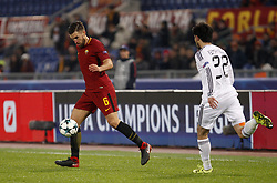 December 5, 2017 - Rome, Italy - Roma s Kevin Strootman, left, is chased by Qarabag s Afran Ismayoilov during the Champions League Group C soccer match between Roma and Qarabag at the Olympic stadium. Roma won 1-0 to reach the round of 16. (Credit Image: © Riccardo De Luca/Pacific Press via ZUMA Wire)