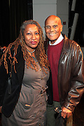 """October 20, 2012-New York, NY: (L-R) Producer Lisa Corte and Actor/Social Activist Harry Belafonte at From Beat Street to These Streets: Hip Hop Then and Now panel discussion and special screening of """" Beat Street"""" co-hosted by the Schomburg Center, the Tribeca Youth Screening Series & Belafonte Enterprises and held at The Schomburg Center on October 20, 2012 in Harlem, New York City  (Terrence Jennings)"""