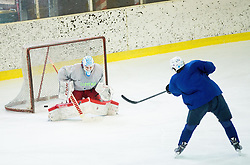 Luka Gracnar during practice session of Slovenian Men's National Ice Hockey Team before EIHC tournament 2015 in Wien, on February 3, 2015 in Ledna dvorana, Bled, Slovenia. Photo by Vid Ponikvar / Sportida