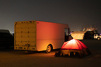 A tent and a delivery truck. Nice. My Burning Man 2018 Photos:<br />