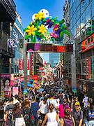 Young Japanese crowd on Takashita Street, Harajuku,Tokyo, Japan
