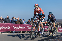 Christine Majerus tackles the VAMberg  - Drentse 8, a 140km road race starting and finishing in Dwingeloo, on March 13, 2016 in Drenthe, Netherlands.