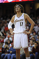 Anderson Varejao of Cleveland..The Miami Heat lost to the host Cleveland Cavaliers 84-76 at Quicken Loans Arena, April 13, 2008...
