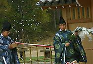 10/1/05  Omaha, NEOpening ceremony of the Sunpu gate at Laurentzen gardens ..(photo by Chris Machian/Prarie Pixel Group)