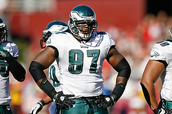 12 Oct 2008: Philadelphia Eagles defensive tackle Brodrick Bunkley #97 during the game against the San Francisco 49ers on October 12th, 2008. The Eagles won 40-26 at Candlestick Park in San Francisco, California. (Photo by Brian Garfinkel) (Photo by Brian Garfinkel)