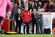 Scotland U21 Head Coach Scott Gemmill during the U21 UEFA EURO first qualifying round match between England and Scotland at the Riverside Stadium, Middlesbrough, England on 6 October 2017. Photo by Paul Thompson.