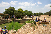 Israel, Ramat Hanadiv near Zichron Yaacov. Ruins of an ancient agricultural settlement. Horvat Aqav archaeological site at Ramat Hanadiv is a nature park and garden covering 4.5 km at the southern end of Mount Carmel, Israel