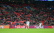 Tottenham's fans leave before the end during the Champions League group match at Wembley Stadium, London. Picture date December 7th, 2016 Pic David Klein/Sportimage