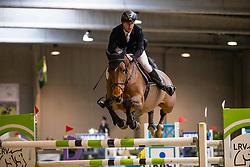 De Coninck Stijn, BEL, Gucci van de Coninckshoeve<br /> Klasse Zwaar<br /> Nationaal Indoor Kampioenschap Pony's LRV <br /> Oud Heverlee 2019<br /> © Hippo Foto - Dirk Caremans<br /> 09/03/2019