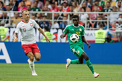 June 19, 2018 - Moscou, VAZIO, Russia - During the match between Poland and Senegal, valid for the first round of Group H of the 2018 World Cup, held at the Spartak Stadium. Latest score, Senegal got 2 while Poland got 0. (Credit Image: © Thiago Bernardes/Pacific Press via ZUMA Wire)