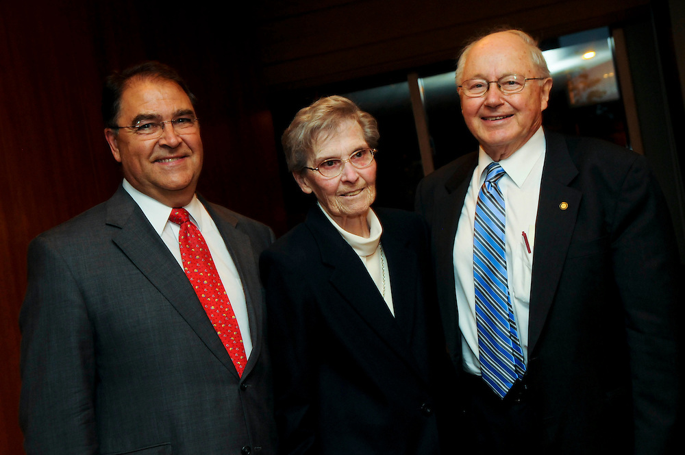 """The Common Ground Initiative presents their """"As Those Who Serve"""" awards at the Sheraton Hotel & Towers on August 5th. Those awarded include Sr. Mary Brian Costello, RSM (center), Chicago Archdiocese Chancellor Jimmy Lago (left), and Louis J. Glunz, Ph.D (right). The initiative, a part of the Bernardin Center at Chicago Theological Union, is dedicated to lessening the divisions that weaken the church through dialogue and understanding. l Brian J. Morowczynski~ViaPhotos..For use in a single edition of Catholic New World Publications, Archdiocese of Chicago. Further use and/or distribution may be negotiated separately. ..Contact ViaPhotos at 708-602-0449 or email brian@viaphotos.com."""