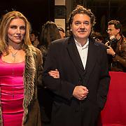NLD/Amsterdam/20140307 - Boekenbal 2014, Jessica Durlacher en partner Leon de Winter