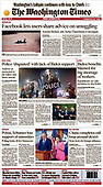 October 18, 2021 - USA: Front-page: Today's Newspapers In United States
