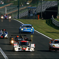 #89 LMGT2 Ferrari F430 GTC - Hankook Team Farnbacher, #12 LMP1 Lola B10/60 - Rebellion Racing, #45 Oreca FLM 09 - Boutsen Energy Racing, #40 LMP2 Ginetta-Zytek 09S - Quifel - ASM Team, #77 LMGT2 Porsche 997 GT3 RSR - Team Felbermayr Proton, Le Mans Series 1000 Kilometres Hungaroring 2010