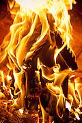 menzel fireplace, burning a birdhouse