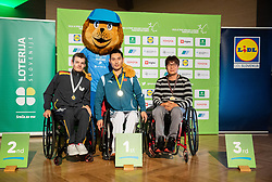 during Closing ceremony at Day 4 of 16th Slovenia Open - Thermana Lasko 2019 Table Tennis for the Disabled, on May 11, 2019, in Thermana Lasko, Lasko, Slovenia. Photo by Vid Ponikvar / Sportida