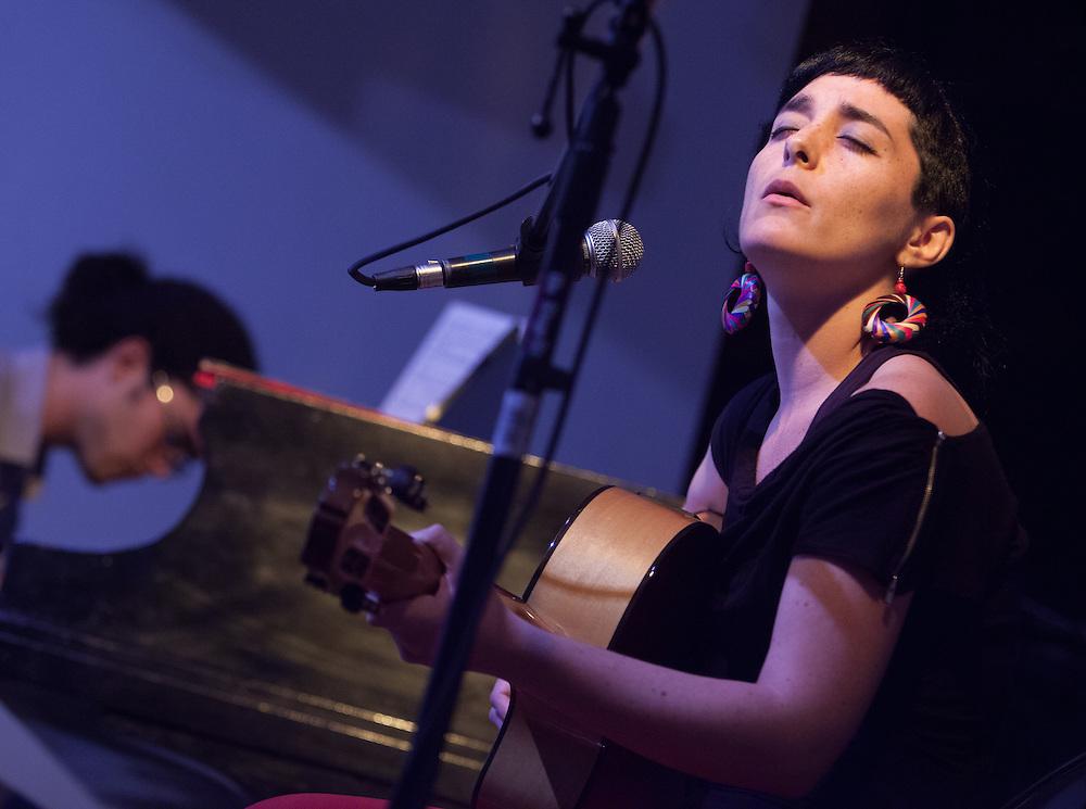 09/13/2013- New York,  NY. Camilla Meza performs with Fabian Almazan The Jazz Gallery
