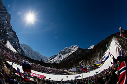 Hill and spectators during Ski Flying Hill Team Competition at Day 3 of FIS Ski Jumping World Cup Final 2016, on March 19, 2016 in Planica, Slovenia. Photo by Vid Ponikvar / Sportida