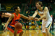 WACO, TX - JANUARY 3: Brady Heslip #5 of the Baylor Bears passes the ball against the Savannah State Tigers on January 3, 2014 at the Ferrell Center in Waco, Texas.  (Photo by Cooper Neill) *** Local Caption *** Brady Heslip