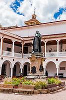 stylish patio courtyard in La Candelaria aera Bogota capital city of Colombia South America