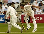 Lord's London, 1st NPower Test   England v New Zealand.  Steve Harmison bowling   to batsman Mark Richardson 20/05/2004 <br /> [Credit Peter Spurrier Intersport Images}