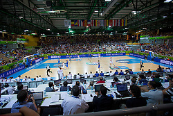 04.09.2013, Arena Bonifka, Koper, SLO, Eurobasket EM 2013, Russland vs Italien, im Bild View on the court // during Eurobasket EM 2013 match between Russia and Italy at Arena Bonifka in Koper, Slowenia on 2013/09/04. EXPA Pictures © 2013, PhotoCredit: EXPA/ Sportida/ Matic Klansek Velej<br /> <br /> ***** ATTENTION - OUT OF SLO *****