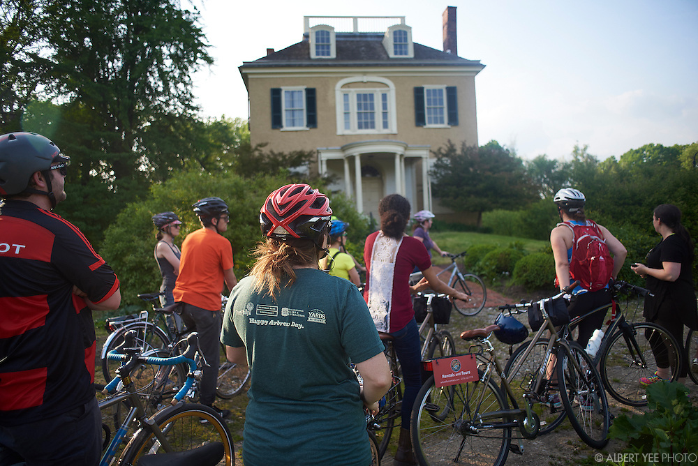 Rockland<br /> A bike tour of East Fairmount Park and its historic mansions. Fairmount Park experts Rob Armstrong and Jason Mifflin lead a group through the park with stops at Mount Pleasant, Rockland, Ormiston, Laurel Hill, Strawberry and Woddford mansions. The mansions were once a series of private summer estates owned by wealthy Philadelphians, but later became one of the biggest and most famous urban parks in the world.<br /> May 12, 2015