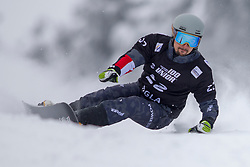 Lukas Mathies (AUT) during Final Run at Parallel Giant Slalom at FIS Snowboard World Cup Rogla 2019, on January 19, 2019 at Course Jasa, Rogla, Slovenia. Photo byJurij Vodusek / Sportida