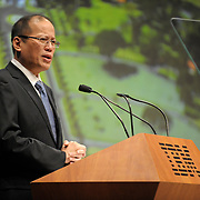 """In New York City, His Excellency Benigno """"Noynoy"""" Aquino III, President of The Philippines, addressed 700 leaders from world government, business, academia and science at IBM's THINK Forum held at Lincoln Center. As part of IBM's 100-year anniversary, the Forum examined the implications of leadership on organizations and societies and the deep structural changes required  to drive progress.  Contact: Laurie Friedman, IBM laurie1@us.ibm.com 914 499 4608"""