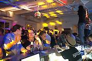 Young Georgians dance the night away in a bar in downtown Tiblisi...Tiblisi 8 June 2012