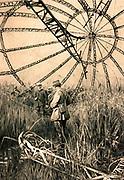 Framework of Zeppelin shot down in the Vardar Marshes, near Salonika.